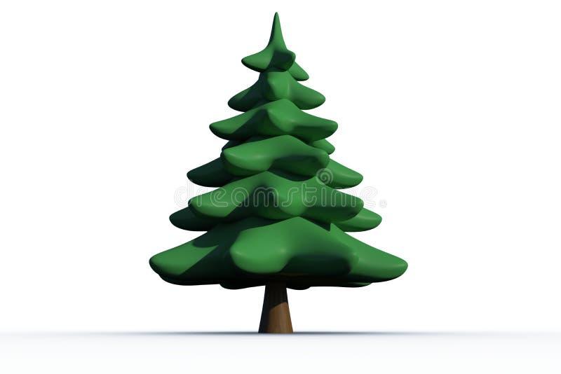 Arbre de sapin vert produit par digital illustration stock image 44132931 - Dessin sapin vert ...