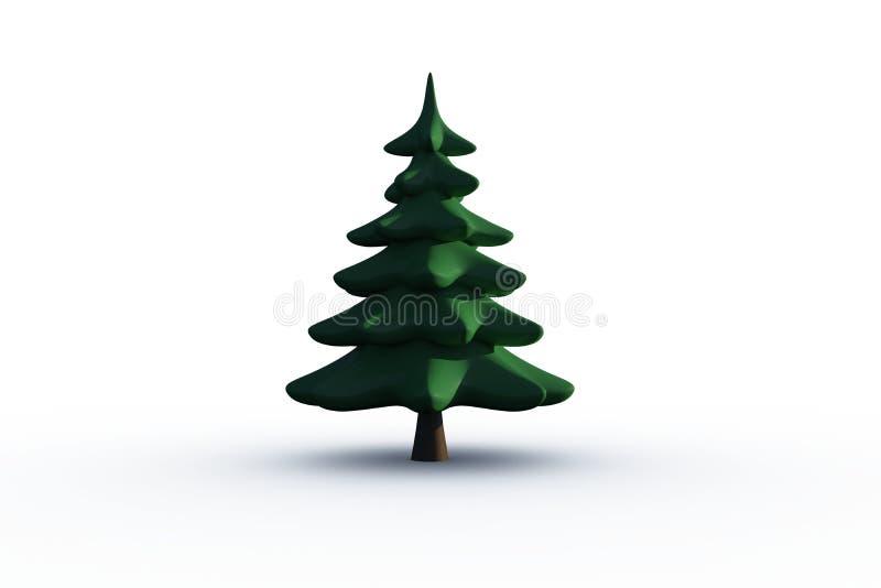 Arbre de sapin vert produit par digital illustration stock image 44132933 - Dessin sapin vert ...