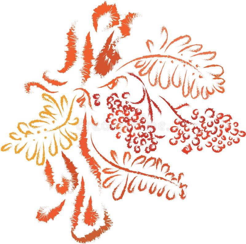 Arbre de sorbe d'automne illustration stock