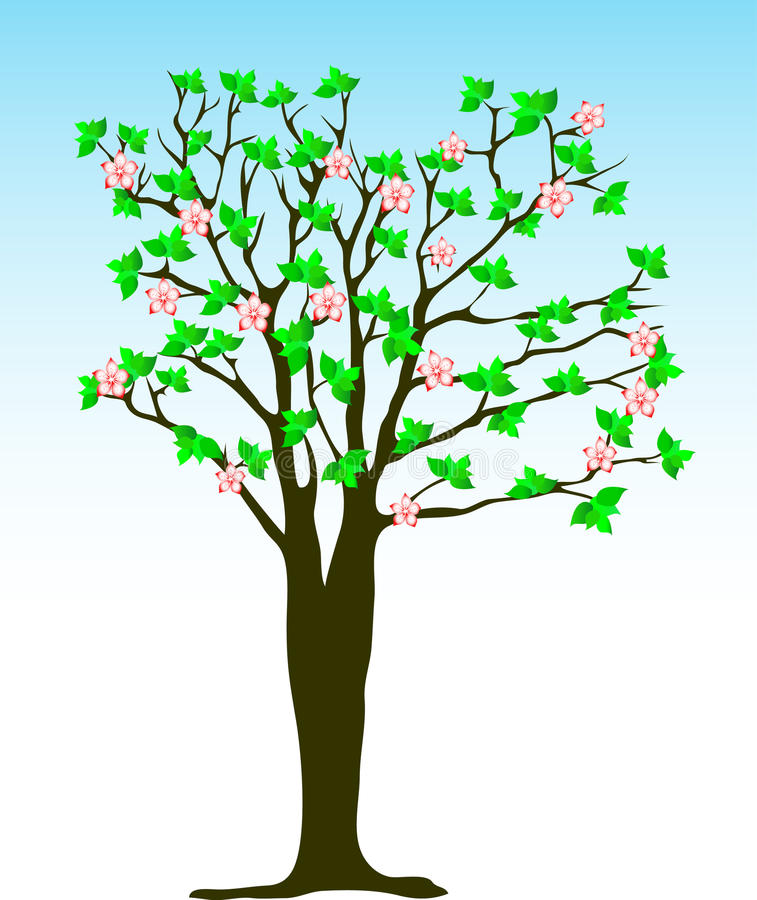 Arbre de source illustration libre de droits
