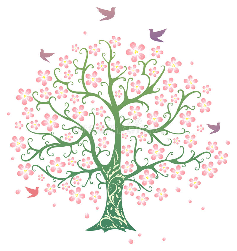 Arbre de source illustration stock