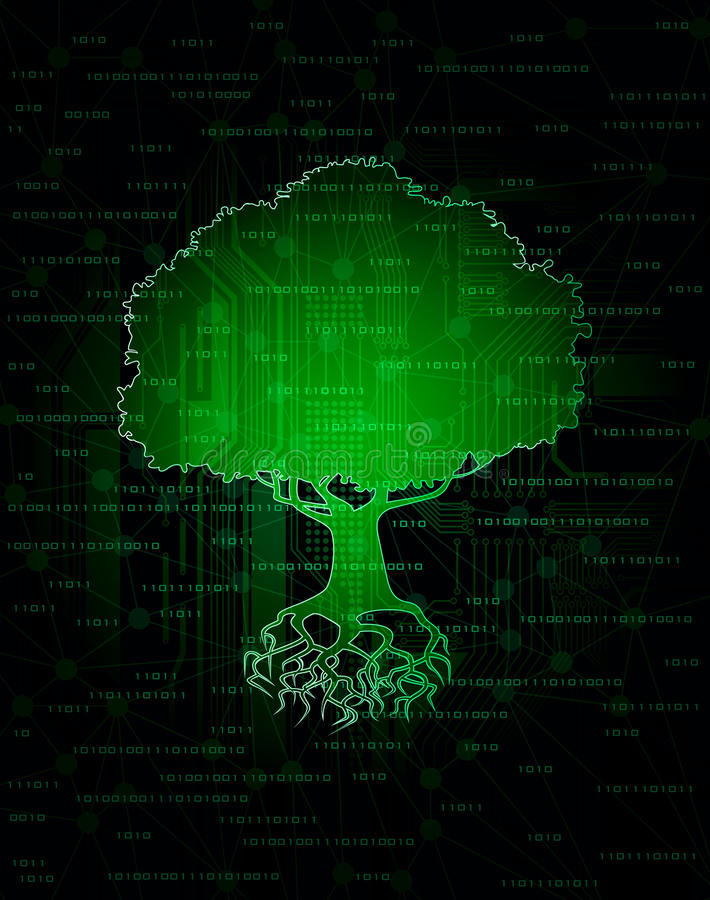 Arbre de technologie illustration stock