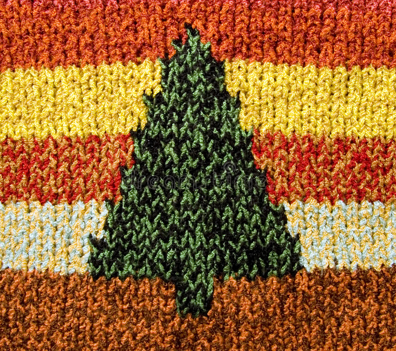 Arbre de Tricoter-Noël photographie stock libre de droits
