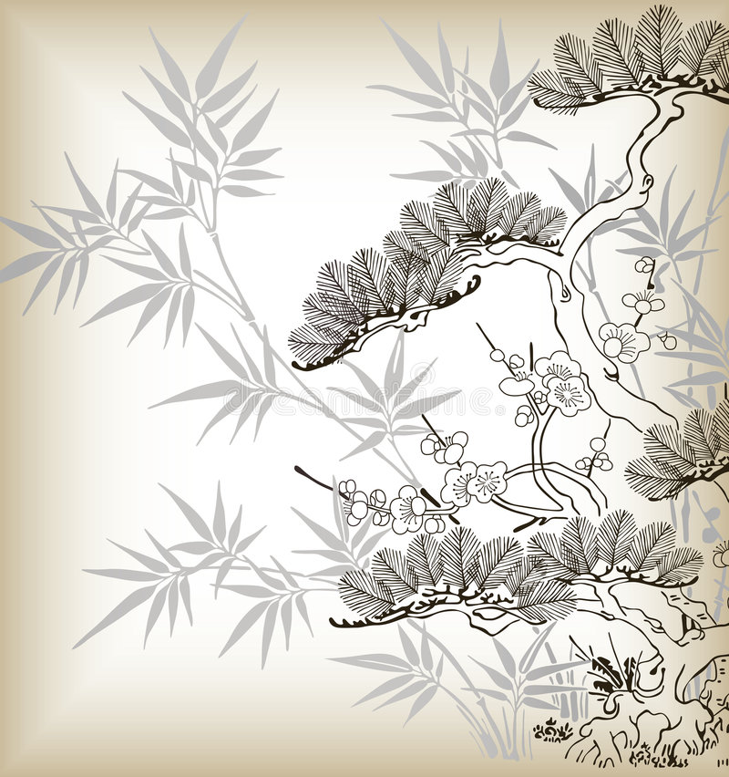 arbre de type japonais illustration stock