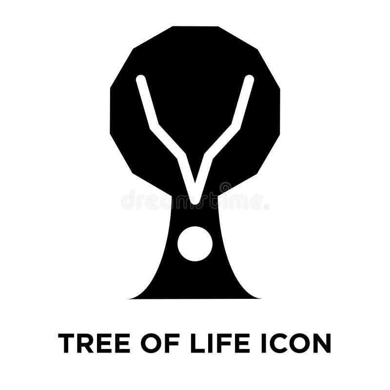 Arbre de vecteur d'icône de la vie d'isolement sur le fond blanc, logo concentré illustration stock