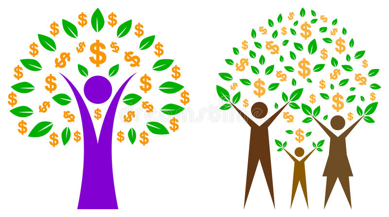 Arbre du dollar illustration stock