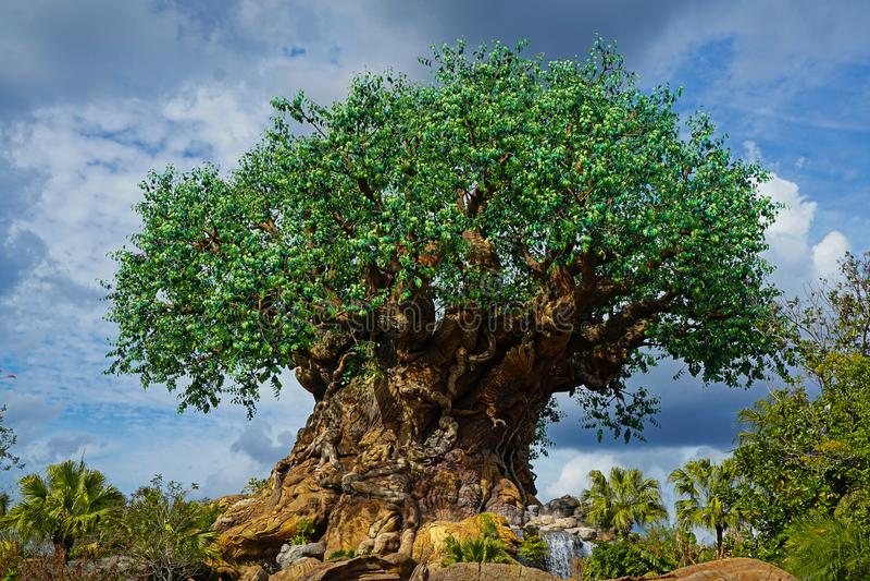 Arbre du règne animal de Walt Disney World de la vie photo libre de droits