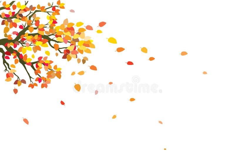 Arbre en automne illustration de vecteur