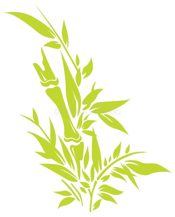 Arbre en bambou illustration de vecteur
