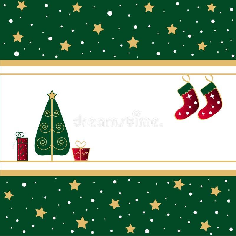 Arbre et bas de Noël illustration libre de droits