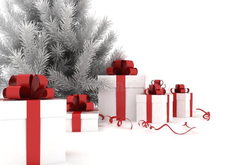 Arbre et cadeaux de Noël illustration libre de droits