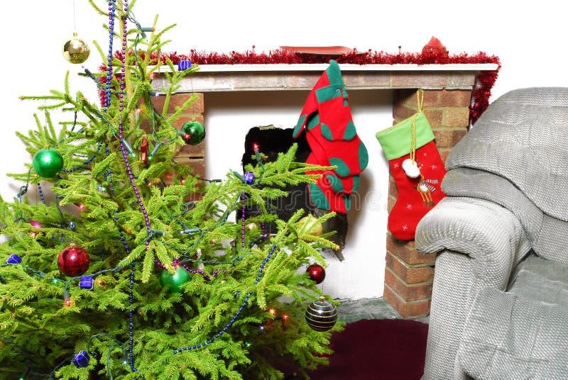 Arbre et décoration de Noël photos libres de droits