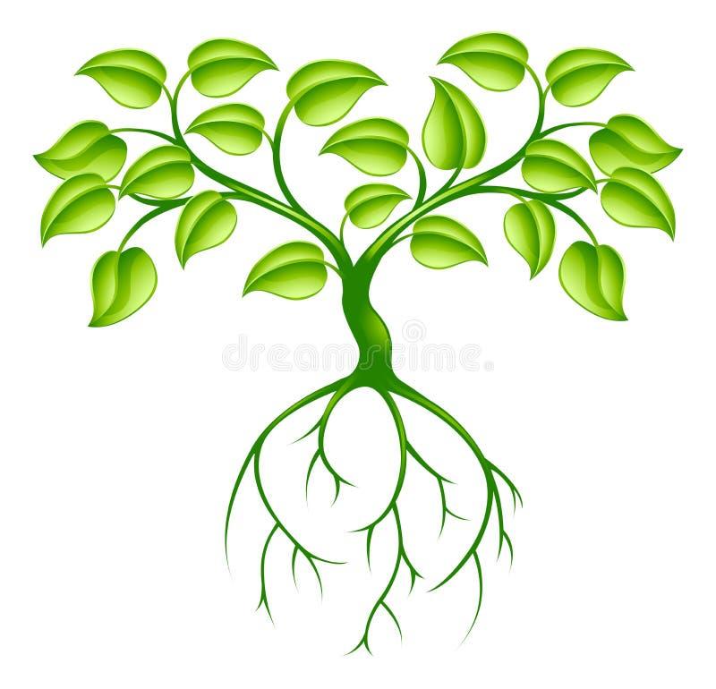 Arbre et fonds verts illustration libre de droits