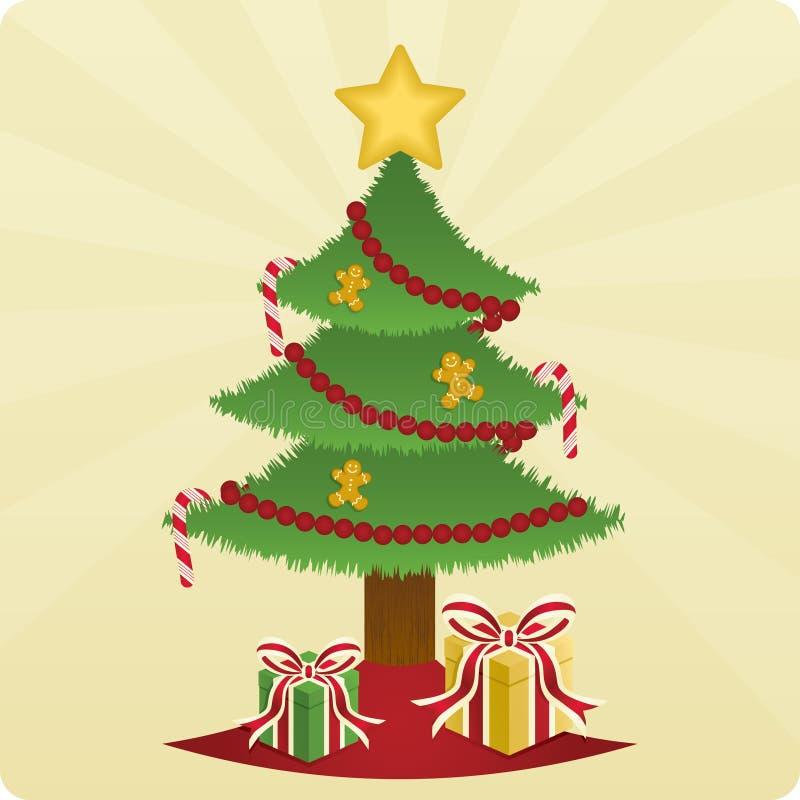 Arbre et présents de Noël illustration libre de droits
