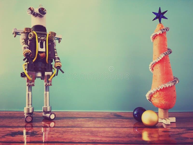 Arbre et robot de Noël de carotte photo libre de droits