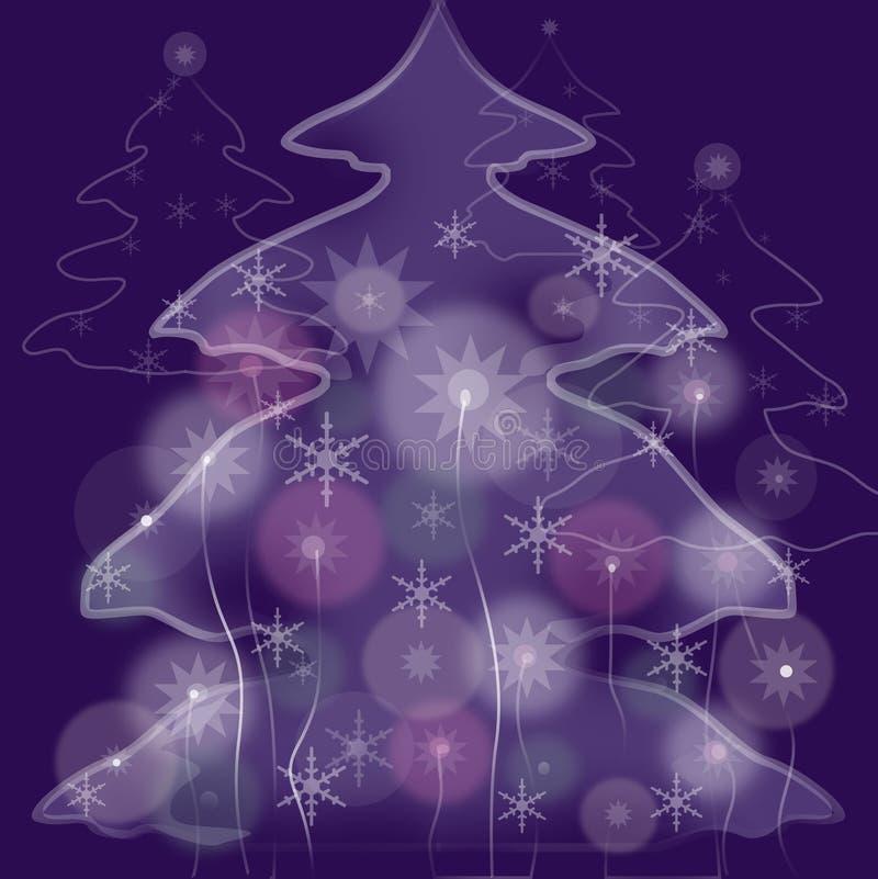 arbre féerique de fourrure illustration de vecteur