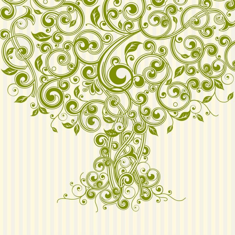 Arbre floral illustration libre de droits