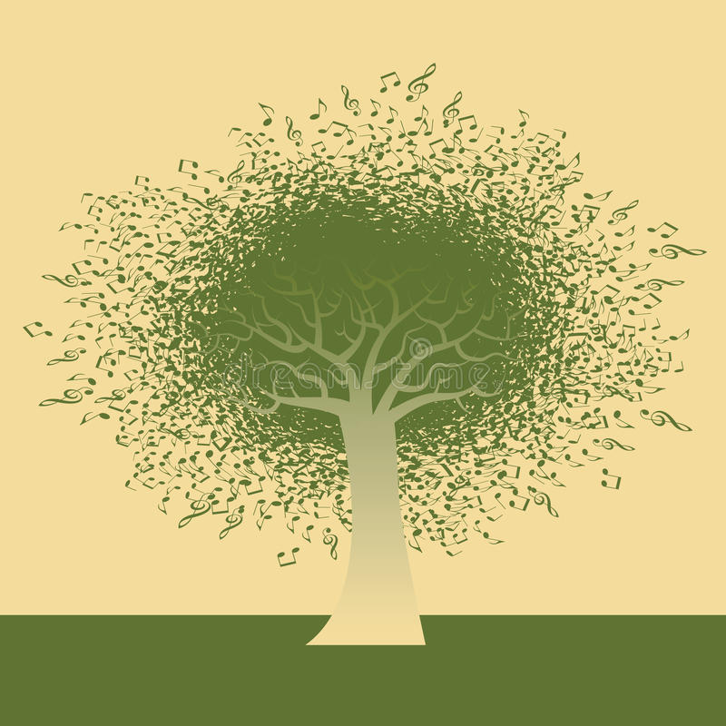 Arbre génial de note illustration stock