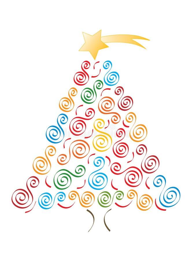 Arbre gai de Joyeux Noël illustration stock