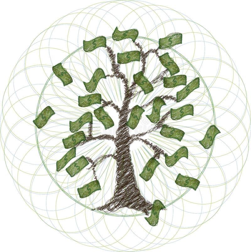 Arbre global d'argent illustration stock