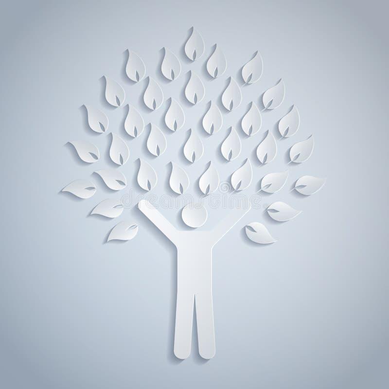 arbre humain illustration de vecteur