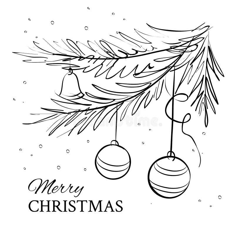 Arbre impeccable toujours d'actualité de Noël illustration de vecteur