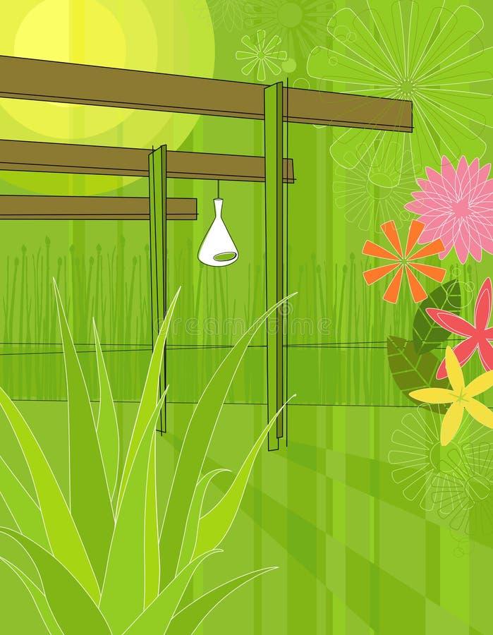 Arbre moderne de jardin illustration de vecteur