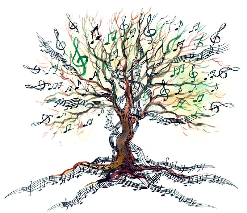 Arbre musical illustration libre de droits