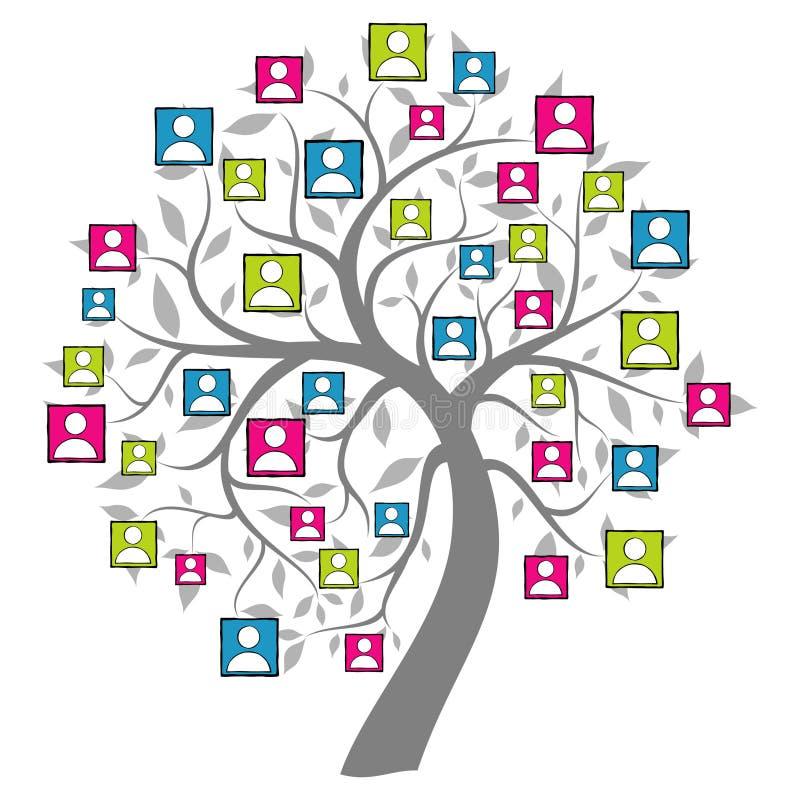Arbre net social illustration libre de droits