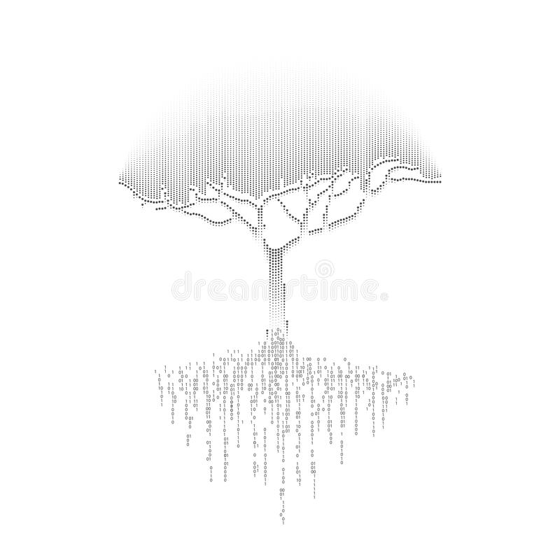 Arbre noir illustration libre de droits