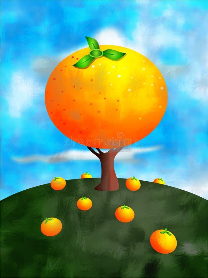 Arbre orange illustration libre de droits