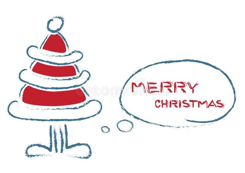 Arbre parlant de Noël illustration stock