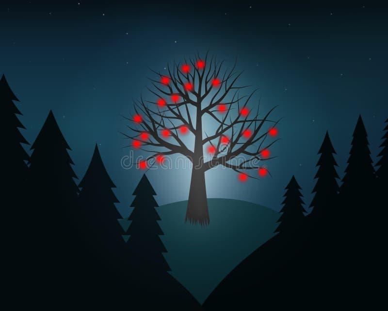 arbre séparé du format eps8 d'amour editable facile supplémentaire de couches très photos libres de droits