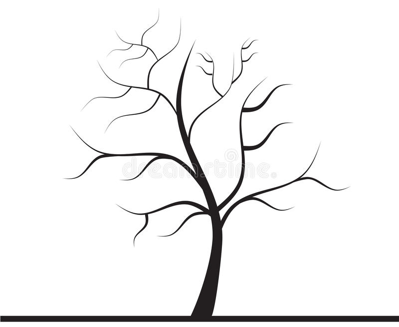 Arbre sans feuilles illustration libre de droits