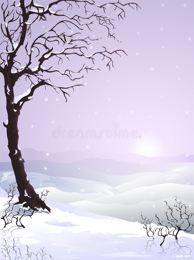 Arbre Snow-covered illustration libre de droits
