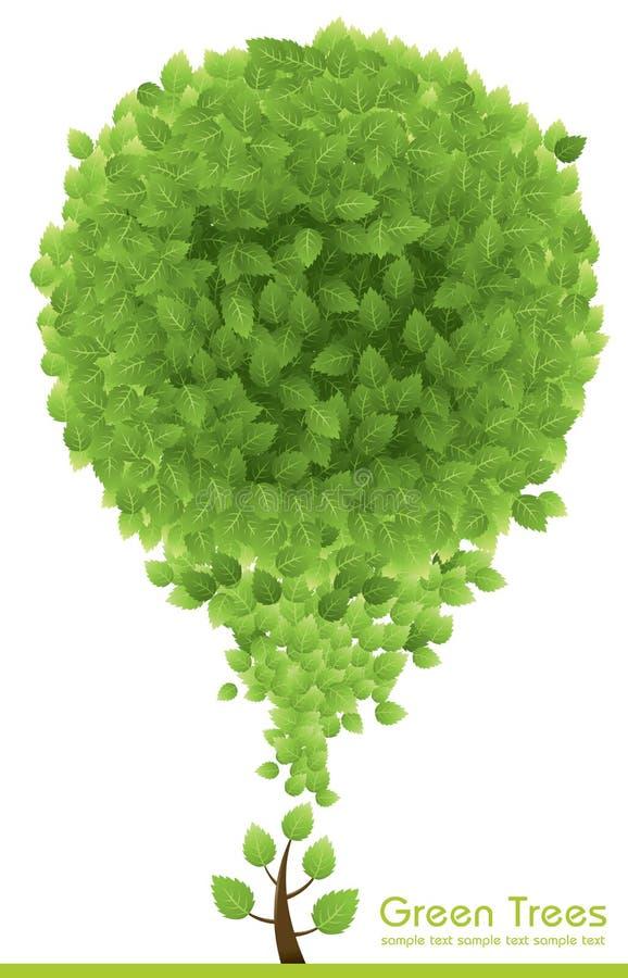 Arbre vert illustration de vecteur