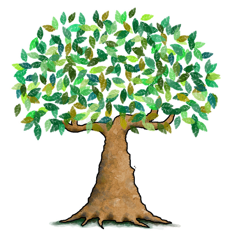 Arbre vert illustration stock
