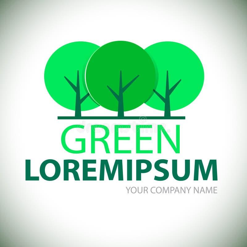 Arbre vert de logo illustration libre de droits