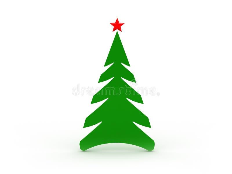 arbre vert de Noël illustration stock