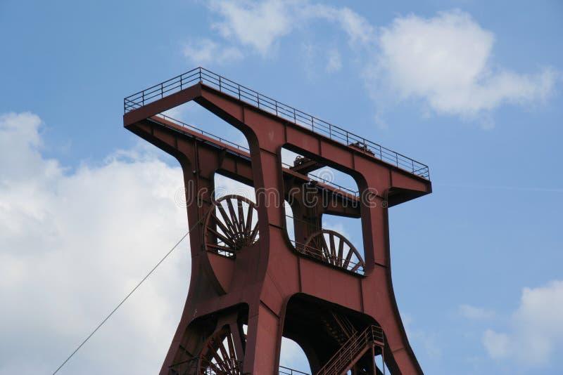 Arbre XII de la mine de charbon célèbre Zollverein photos libres de droits