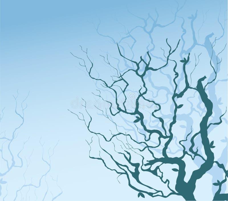 Arbres bleus illustration stock