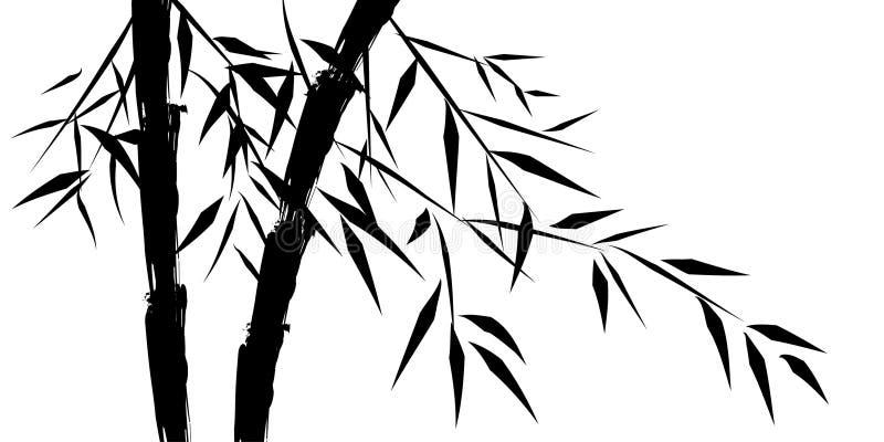 arbres chineese en bambou de conception illustration libre de droits