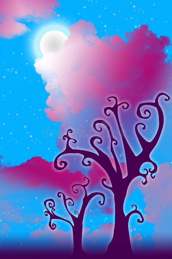 Arbres d'imagination illustration stock