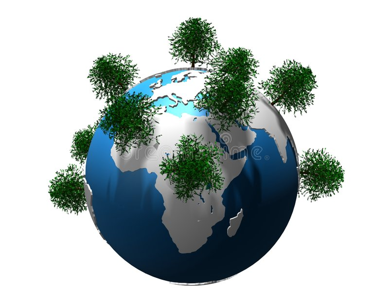 arbres de globe illustration libre de droits