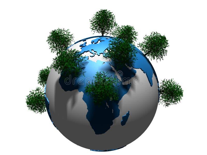 arbres de globe illustration de vecteur