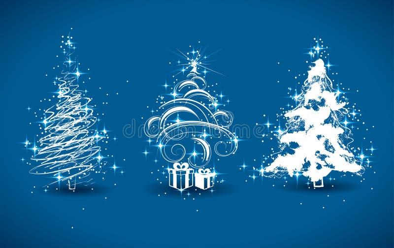 Arbres de Noël décoratifs illustration de vecteur