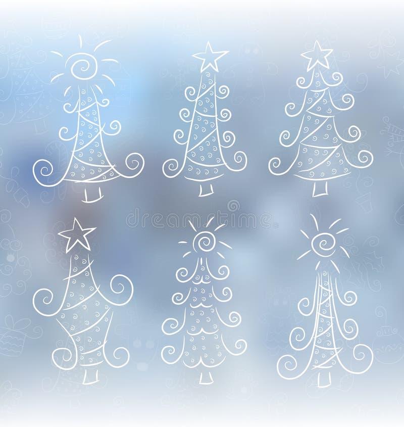 Arbres de Noël de griffonnage illustration libre de droits