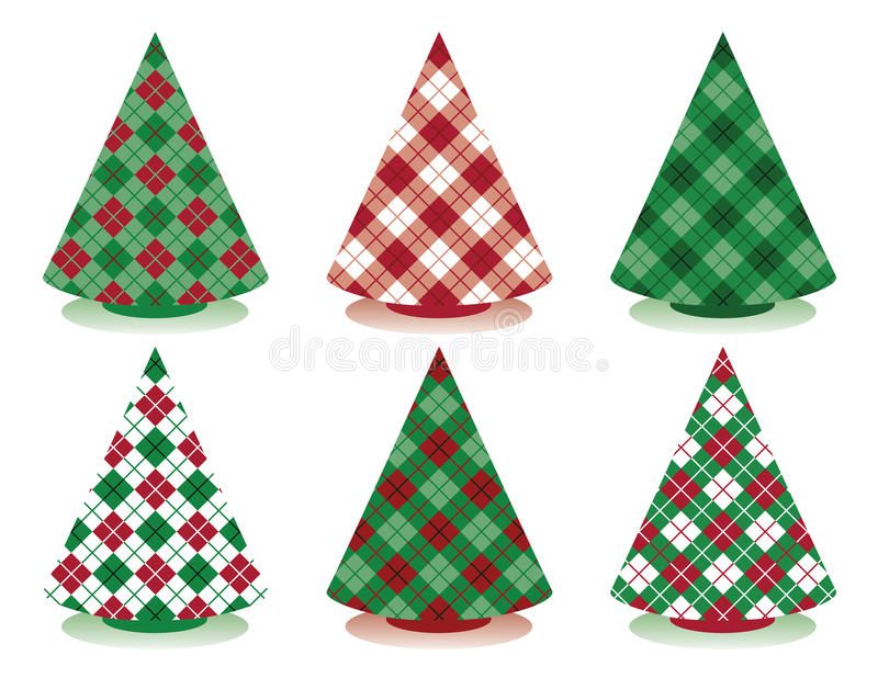 Arbres de Noël de plaid