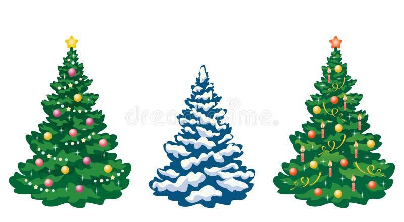 Arbres de Noël réglés illustration libre de droits