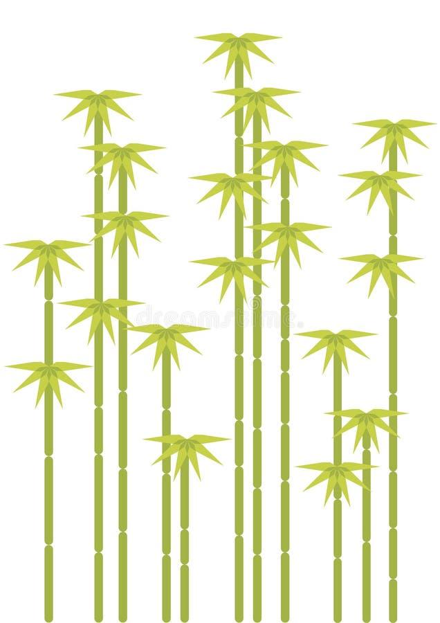 Arbres en bambou illustration de vecteur